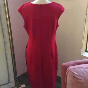 connected apparel Dresses - Red dress with blue lace accent. Size 12